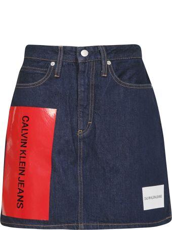 Calvin Klein Jeans Logo Mini Skirt