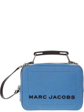 Marc Jacobs Light Blue Box Bag In Leather