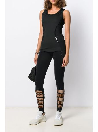 Adidas by Stella McCartney Ess Tank Topwear In Black Tech/synthetic