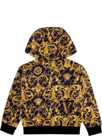 Young Versace Cotton Full Zip Hoodie
