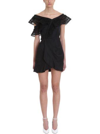 self-portrait One Shoulder Frilled Dress