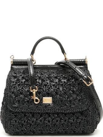 Dolce & Gabbana Crochet Raffia Sicily Bag