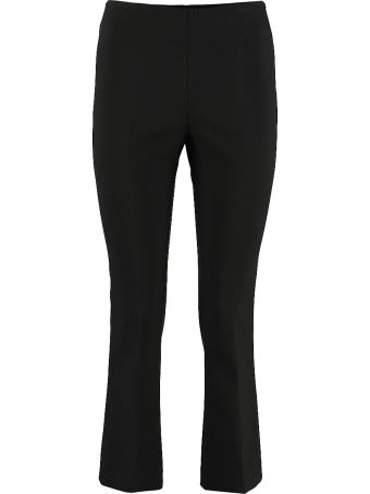 Jucca Flared Hem Cropped Trousers
