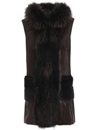 S.W.O.R.D 6.6.44 Sword Fur-detailed Sleeveless Coat
