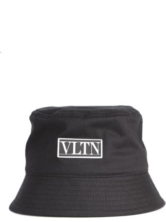 Valentino Garavani Black Cotton Vltn Bucket Hat