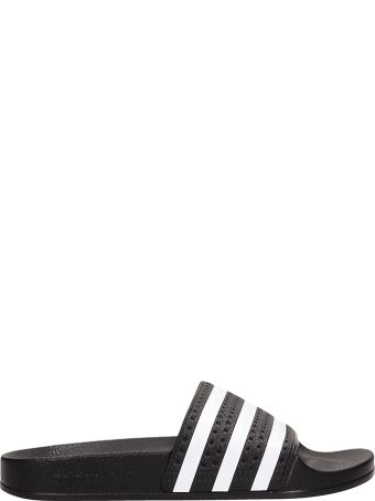 Adidas Black Rubber Adilette Sandals