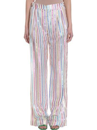 ATTICO Striped Lurex Trousers