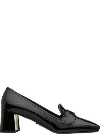 Prada Prada Heel Logo Loafer