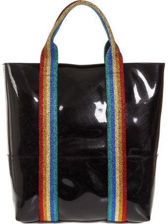 Gianni Chiarini Black Rainbow Bag In Rubber