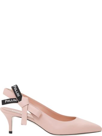 Pollini Slingback Pumps With Logo Taping