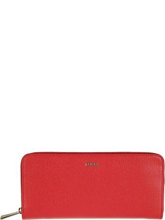 Furla Logo Plaque Zip Around Wallet
