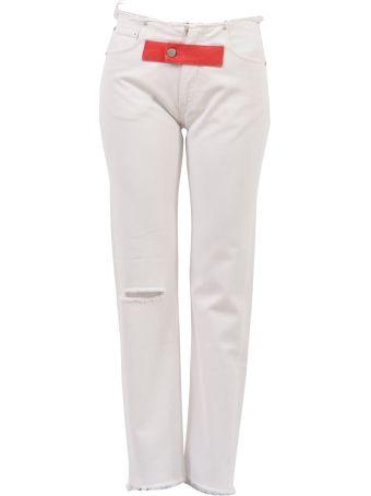 Alyx Fringed Jeans White