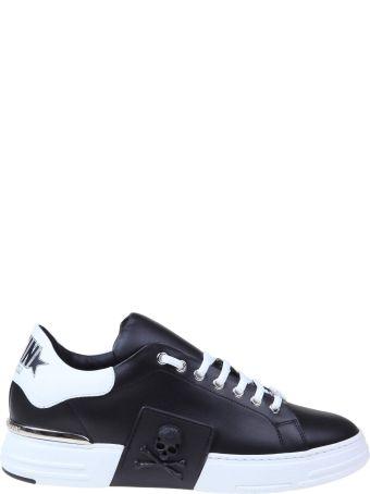 Philipp Plein Sneakers Phantom Kick In Black Leather