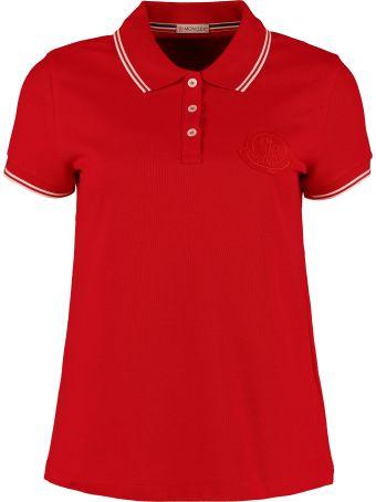 Moncler Logo Embroidery Cotton-piqué Polo Shirt