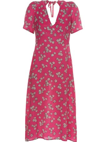 Parosh Flower Print Dress