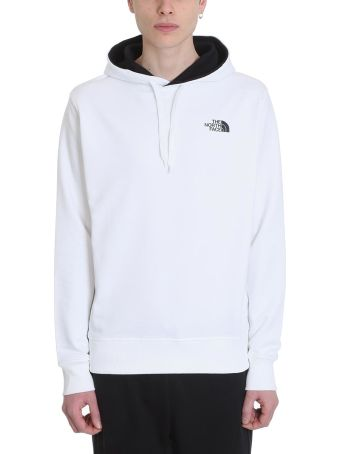 The North Face White Cotton Hoodie