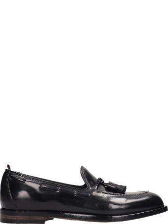 Officine Creative Black Leather Ivy Loafer