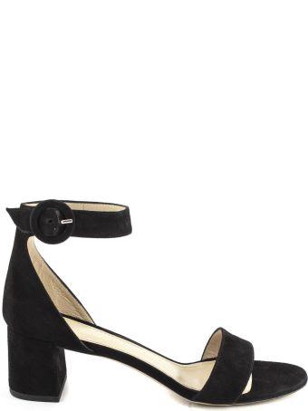 Aldo Castagna Black Suede High-heel Ginevra Sandals