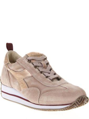 Diadora Heritage Pink Taupe Suede Shoe