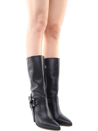 Buttero Rose Cone-heel Smooth-leather Boots