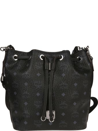 MCM Monogram Print Bucket Bag