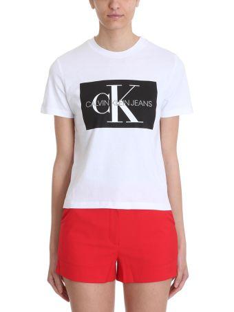 Calvin Klein Jeans Cropped Black Cotton T-shirt