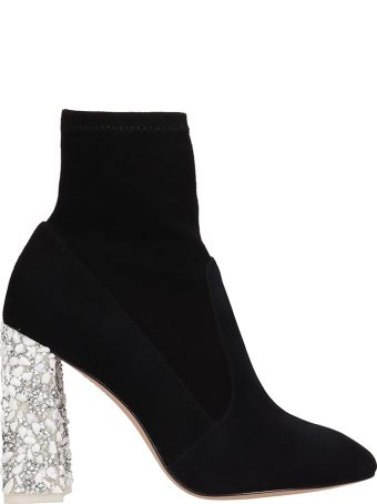 Sophia Webster Felicity Black Suede Ankle Boots