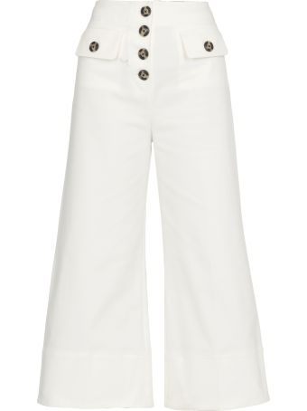 self-portrait Canvas Trousers