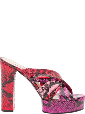 Casadei Python Effect Chuuncky Mules