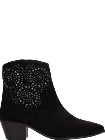 The Seller Black Suede Texas Ankle Boots