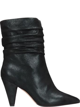The Seller Lam? Green Fabric Ankle Boots