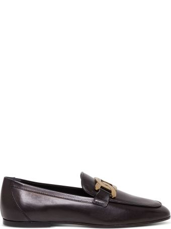 Tod's Leather Loafers With Buckle