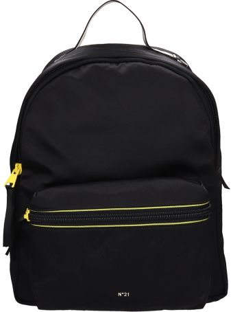 N.21 Black Fabric Backpack