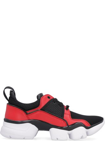 Givenchy Jaw Leather And Neoprene Low-top Sneakers