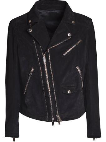 Les Hommes Zipped Biker Jacket