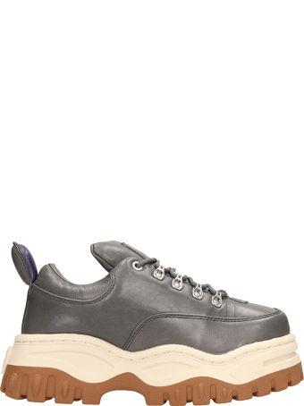 Eytys Angel Grey Leather Sneakers
