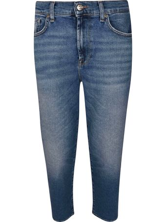 7 For All Mankind Stonewashed Effect Jeans