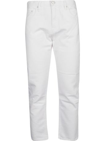 Don't Cry Cropped Slim-fit Jeans