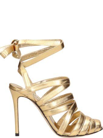 Marskinryyppy Gold Laminated Sandals