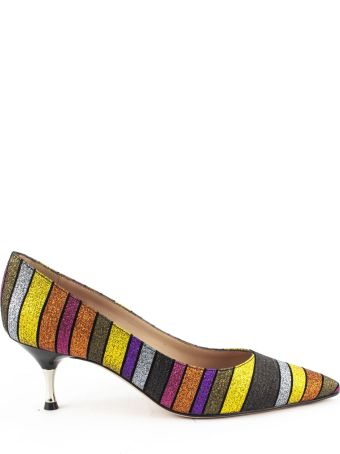 Roberto Festa New Claude Pumps In Multicolor Glitter