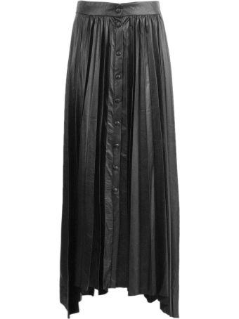 Isabel Marant Black Pleated Maxi Skirt