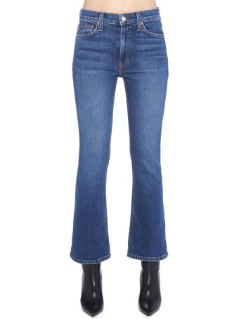 RE/DONE 'kick Flare Crop' Jeans