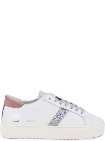 D.A.T.E. White Leather Hill Low Sneakers