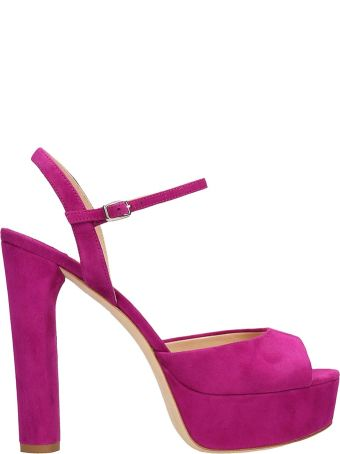 The Seller Purple Suede Sandals