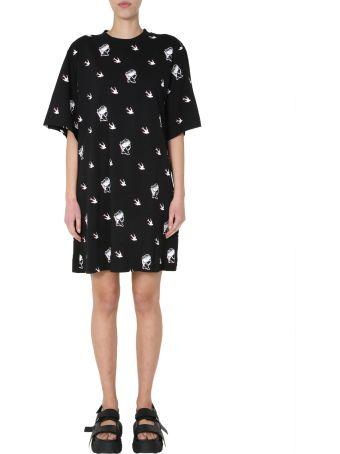 McQ Alexander McQueen Round Neck T-shirt Dress