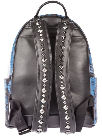MCM Small Stark Baroque Print Backpack