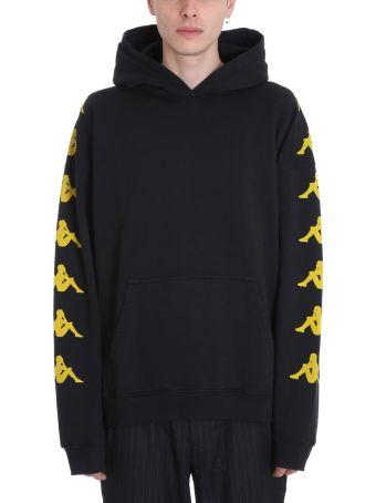 Danilo Paura x Kappa Black Cotton Sweatshirt