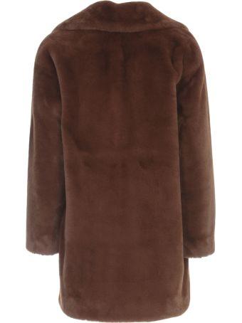Parosh Short Faux Fur Jacket