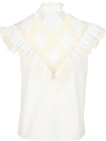 Philosophy di Lorenzo Serafini Philosophy Lace Detail Top