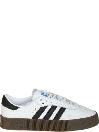 "Adidas Originals ""sambarose"" In White Leather"